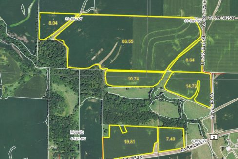 236 acre web field aerial