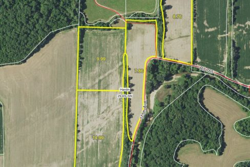 45 acre web field aerial