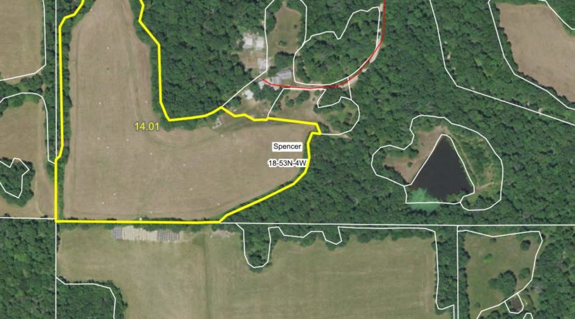 61 acre web field aerial