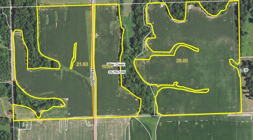 81 acre web field aerial