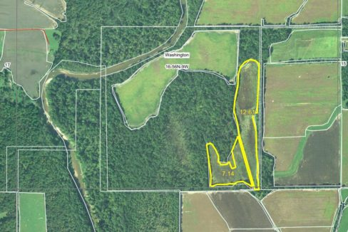 104 acre web field aerial