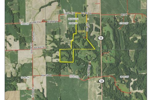 152 acre large web aerial
