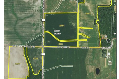 140.3 acre web field aerial